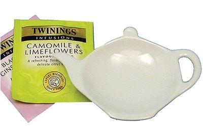 Apollo Vinci Tea Bag Rest, White
