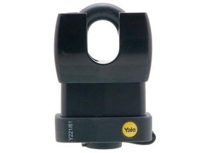 Yale Locks Y221 61mm Weatherproof Steel Padlock Closed Shackle YALY22161