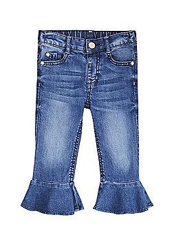 F&F Frill Hem Jeans - Mid wash
