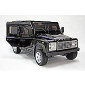 Kids Electric Car Land Rover Defender 12 Volt Black Gloss