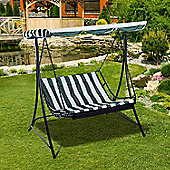 Outsunny Canopy Swing Chair Garden Outdoor Backyard with Cushion - Green/White