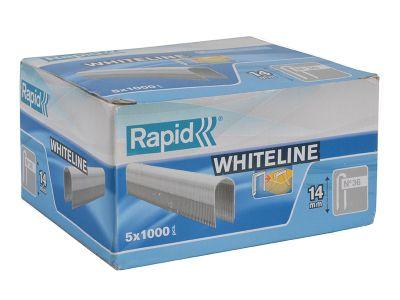 Rapid 36/14 14mm DP x 5m White Staples Pack 5 x 1000