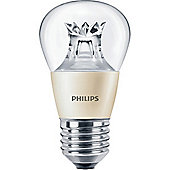 Philips 4-25W Dimmable Clear Golf Ball LED Bulb - Edison Screw (ES)