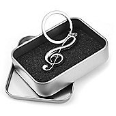 Tiger Treble Clef Keyring - Musical Note Keychain