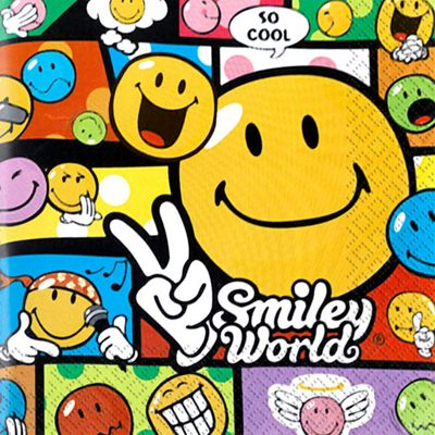 Smiley World Napkins - 2ply Paper - 20 Pack