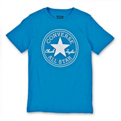 Converse All Star Chuck Patch Logo Youth Kids T-Shirt Spray Paint Blue - 12-13 Years