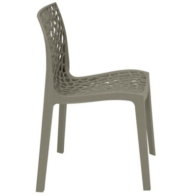 Brackenstyle Neptune Polypropylene Chair - Pearl Grey