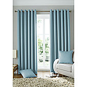 Alan Symonds Lined Solitaire Eyelet Curtains - Duck egg