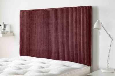 Aspire Furniture Lightmoor Headboard in Loumaire Corded Fabric - Wine - Single 3ft
