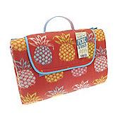 Country Club Jumbo Picnic Blanket, 150 x 200cm, Pineapple Red