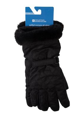 Mountain Warehouse Quilted Womens Ski Gloves ( Size: S )