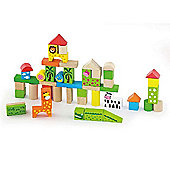 50 Piece Block Set - Zoo