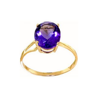 QP Jewellers 2.20ct Amethyst Marvel Ring in 14K Gold - Size A