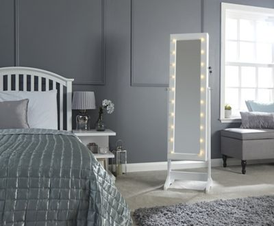 Amore Led Jewellery Armoire White
