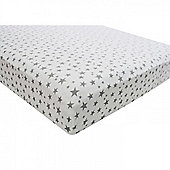 Single Cot Bed Jersey Fitted Sheet (Stars)