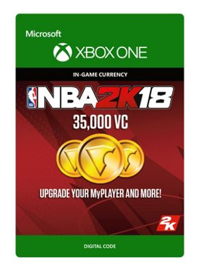 NBA 2K18: 35,000 VC DIGITAL CARDS (Digital Download Code)