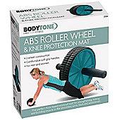 BodyTone ABS Roller Wheel & Knee Protection Mat Soft Grip Handles