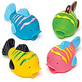 Tropical Fish Water Squirters Perfect Party Bag Filler for Children to Play With (Pack of 4)