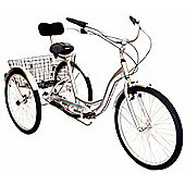"""Ammaco Free & Easy 26"""" Wheel Alloy 3 Wheel Adult Tricycle"""