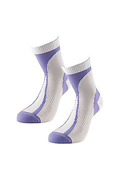 1000 Mile Race Womens Lightweight Running Sock (Pair) White - White