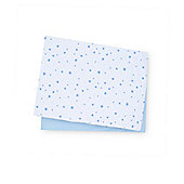 B Baby Bedding Blue Jersey Cotton Cot Bed Sheets - 2 Pack Size cot bed
