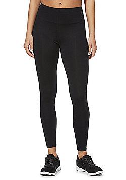 F&F Active Plain Quick Dry Leggings - Black
