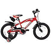"""Hacker Boys 16"""" Wheel Mountain Bike Red"""