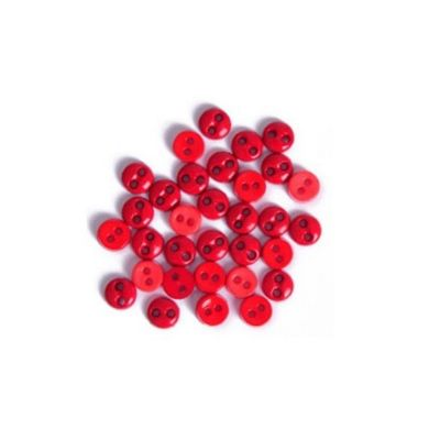 Impex Red Round Mini Buttons