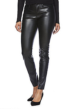 Vero Moda Coated Skinny Jeans - Black