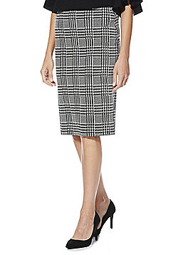 F&F Houndstooth Check Tube Skirt - Black