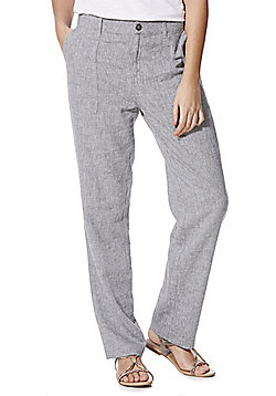 F&F Linen Blend Trousers - Grey