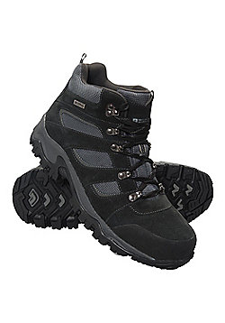 Mountain Warehouse Mens Breathable Boots with Suede and Mesh Upper Durable - Black
