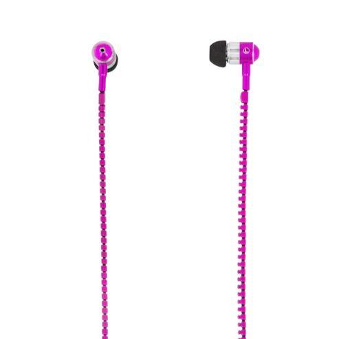 MiTEC Zipper Earphones Pink