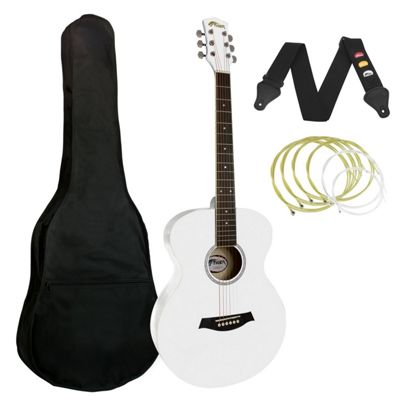 Tiger Acoustic Guitar for Beginners - White