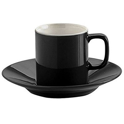 Price & Kensington Rockingham Espresso Cup & Saucer 90ml Black