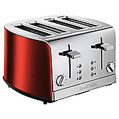 Russell Hobbs 19700 4 Slice Toaster - Red & Silver