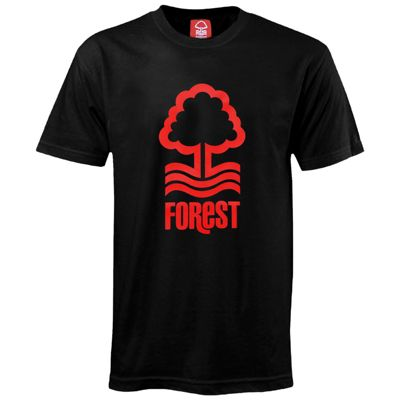 Nottingham Forest FC Mens T-Shirt Black XXL