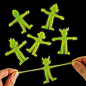Party bag Glow in the Dark Stretchy Aliens(6 Pcs)