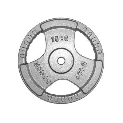 Body Power Standard (1 Inch) Tri Grip Discs - 15Kg (x2)