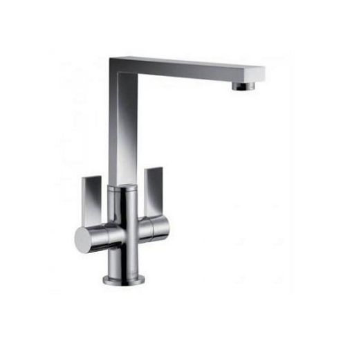 Franke Bern Square Dual Handle Kitchen Sink Mixer Tap, Chrome