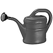 2L Anthracite Grey Plastic Watering Can with Rose