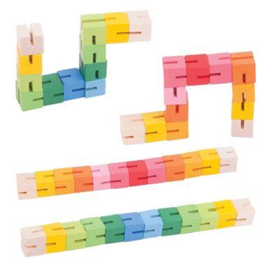 Bigjigs Toys Twister Blocks (Pack of 4 - 2 Blue/Green and 2 Pink/Orange)