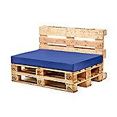 Blue Seat Fibre Printed Pallet Cushions Hollowfibre Garden Patio