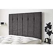 Aspire Furniture Portmoor Headboard in Katsuro Linen Fabric - Pewter - Single 3ft