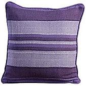 Homescapes Morocco Cotton Striped Mauve Prefilled Cushion, 60 x 60 cm