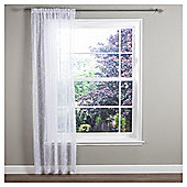 "Nightingale Voile Slot Top Curtain W137xL137cm (58x54"") - White"