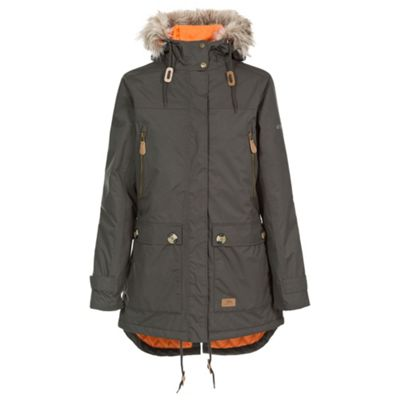 Trespass Ladies Clea Parka Dark Khaki L