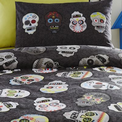 Sugar Skulls Single Bedding