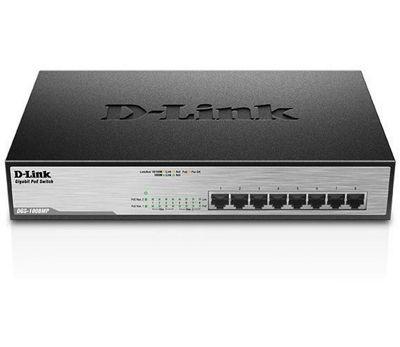D-Link DGS-1008MP 8-Port Desktop Gigabit Max PoE Switch