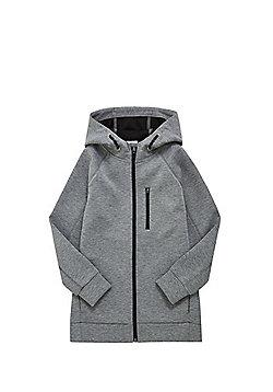 F&F Bonded Jersey Zip-Through Hoodie - Grey